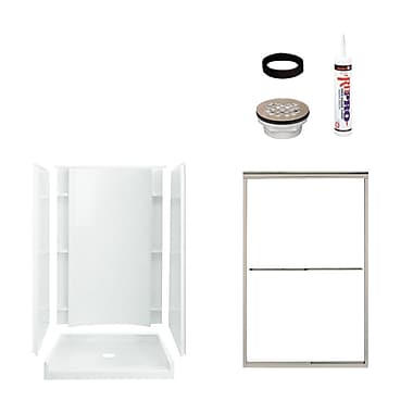 Sterling by Kohler Accord Shower Package; Satin Nickel/White