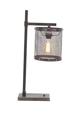 17 Stories Cristine Industrial Iron Mesh 26'' Table Lamp