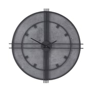 17 Stories Oversized Rinu Modern Iron and Wood Round Framed 29'' Wall Clock