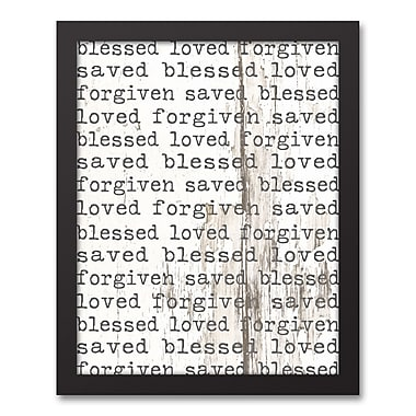 Winston Porter 'Distressed Religious Words' Framed Textual Art on Canvas