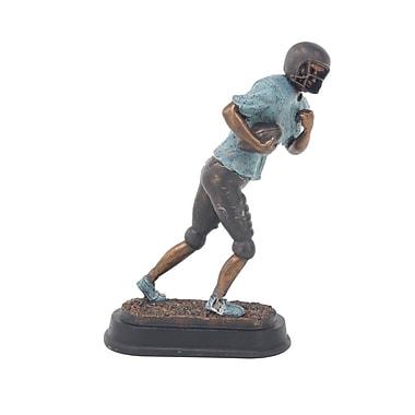Zoomie Kids Furst Modern Running Football Player Ceramic Figurine
