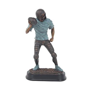 Zoomie Kids Furst Modern Passing Football Player Ceramic Figurine