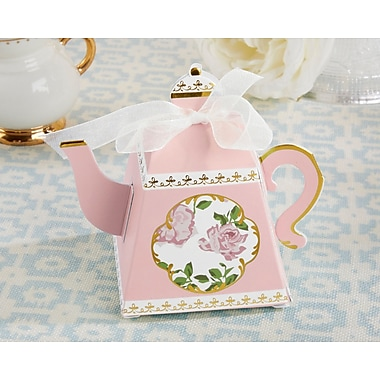 Kate Aspen Tea Time Whimsy Teapot Favor Box (Set of 24)