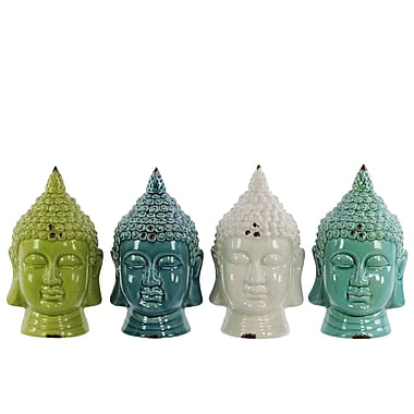 Urban Trends Ceramic Buddha Bust (Set of 4)