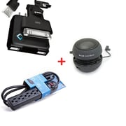 BlueDiamond Charging Kit Bundle with Speaker, Retractable Universal Charging Kit and Surge Protector (32148)