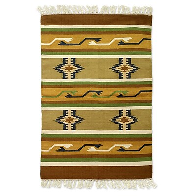 Novica Hand Woven Brown/Tan Area Rug