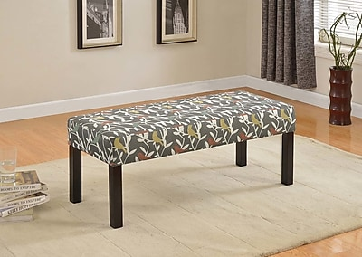 Container Fabric Upholstered Bench