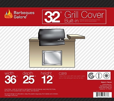 Barbeques Galore Grand Turbo Grill Cover - Fits up to 34''