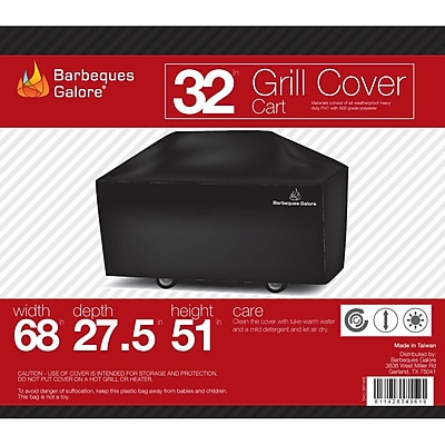 Barbeques Galore Turbo Elite Grill Cover - Fits up to 68''