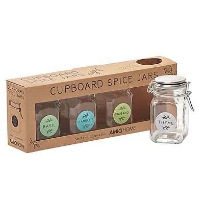Global Amici Hermetic Preserving 4 Jar Spice