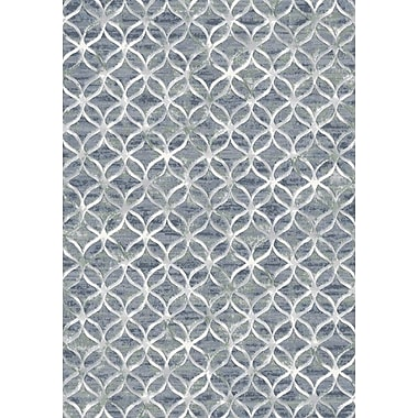 Dynamic Rugs Eclipse Blue Area Rug; Rectangle 2' x 3'11''