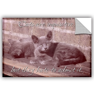 ArtWall Cora Niele Cat Series II Removable Wall Decal; 32'' H x 48'' W x 0.1'' D