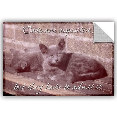 ArtWall Cora Niele Cat Series II Removable Wall Decal; 08'' H x 12'' W x 0.1'' D