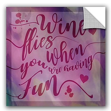 ArtWall Cora Niele Wine Flies Removable Wall Decal; 14'' H x 14'' W x 0.1'' D