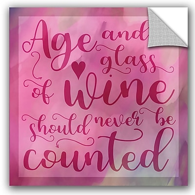 ArtWall Cora Niele Age and Wine Removable Wall Decal; 18'' H x 18'' W x 0.1'' D