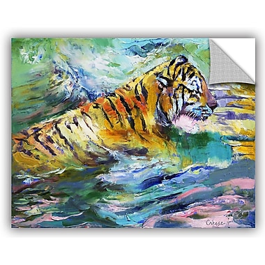 ArtWall Michael Creese Tiger Reflections Wall Decal; 14'' H x 18'' W x 0.1'' D