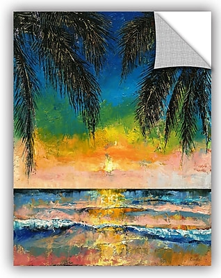 ArtWall Michael Creese Tropical Sunset Wall Decal; 18'' H x 14'' W x 0.1'' D