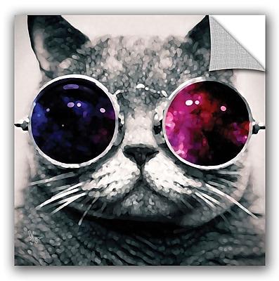 ArtWall Scott Medwetz Cat w/ Sunglasses Wall Decal; 10'' H x 10'' W x 0.1'' D