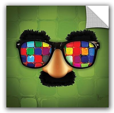 ArtWall Scott Medwetz Groucho Rainbow Glasses Wall Decal; 10'' H x 10'' W x 0.1'' D