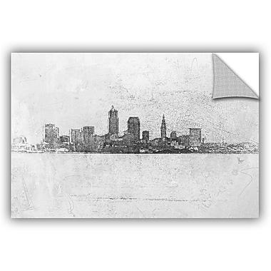 ArtWall Scott Medwetz Cleveland Pointillism Wall Decal; 8'' H x 12'' W x 0.1'' D