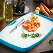 VonShef Plastic Cut & Drain Double-Sided Antimicrobial Cutting Board