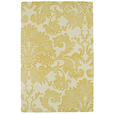 Darby Home Co Rosalind Hand-Tufted Gold Area Rug; 8' x 10'
