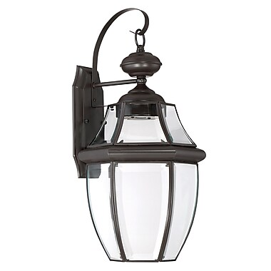 Darby Home Co Haines Outdoor Wall Lantern; Medici Bronze