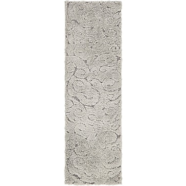 Darby Home Co Fredonia Floral Gray Area Rug; Runner 2'7'' x 10'