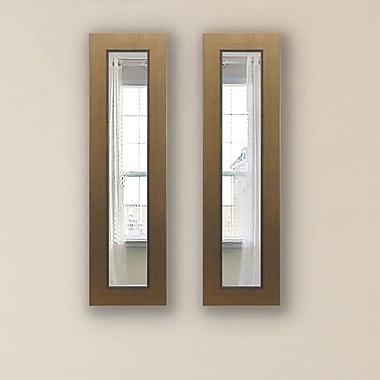 Darby Home Co Doylestown Panel Mirror (Set of 2); 29'' H x 15'' W x 0.75'' D
