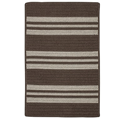 Darby Home Co Neponset Hand-Woven Brown Indoor/Outdoor Area Rug; 6' x 9'