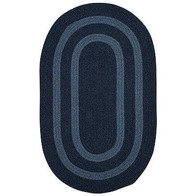 Darby Home Co Westfield Hand-Woven Wool Blue Area Rug; Oval 12' x 15'