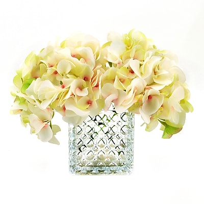 Darby Home Co Soft Cream/Green Hydrangea Bouquet