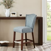 Darby Home Co Newville 24.5'' Bar Stool; Blue