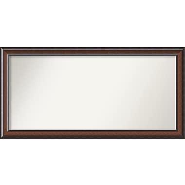 Darby Home Co Halcott Rectangle Dark Walnut Wall Mirror; 54'' H x 27'' W x 1.5'' D