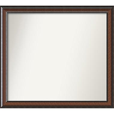 Darby Home Co Halcott Rectangle Dark Walnut Wall Mirror; 40'' H x 36'' W x 1.5'' D