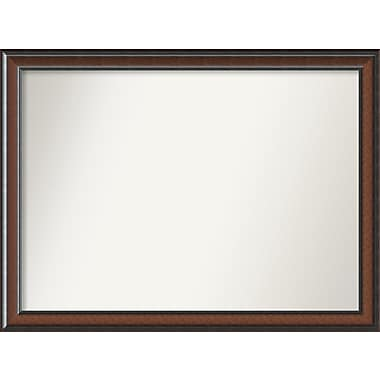 Darby Home Co Halcott Rectangle Dark Walnut Wall Mirror; 47'' H x 35'' W x 1.5'' D