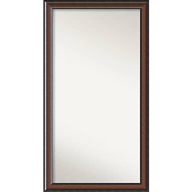 Darby Home Co Halcott Rectangle Dark Walnut Wall Mirror; 31'' H x 56'' W x 1.5'' D