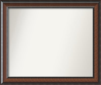 Darby Home Co Halcott Rectangle Dark Walnut Wall Mirror; 32'' H x 27'' W x 1.5'' D