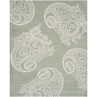 Darby Home Co Shillington Hand-Tufted Gray/Ivory Area Rug; Rectangle 8' x 10'