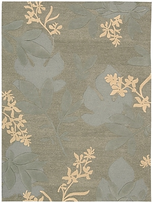 Darby Home Co Peterson Hand-Woven Green Area Rug; 8' x 11'