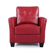 Darby Home Co Fairborn Armchair; Red