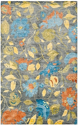 Darby Home Co Rivendell Hand-Knotted Blue/Gray Area Rug; Rectangle 9' x 12'