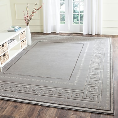 Darby Home Co Ahoghill Hand-Knotted Gray Area Rug; 6' x 9'