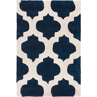 Darby Home Co Freetown Navy Geometric Rug; Rectangle 9' x 13'