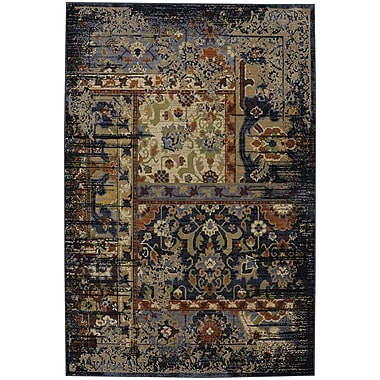 Darby Home Co Brookes Black Area Rug; 8' x 11'