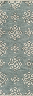 Darby Home Co Royersford Hand-Tufted Aqua Area Rug; Runner 2'6'' x 8'
