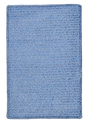 Charlton Home Gibbons Petal Blue Indoor/Outdoor Area Rug; Rectangle 2' x 4'