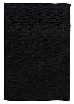 Charlton Home Glasgow Black Indoor/Outdoor Area Rug; Rectangle 8' x 11'