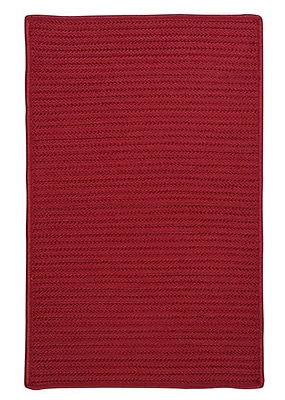 Charlton Home Glasgow Red Indoor/Outdoor Area Rug; Square 10'