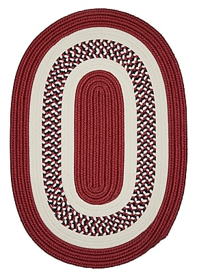 Charlton Home Germain Red Area Rug; Oval 2' x 3'